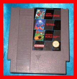 Nintendo NES N E S MODUL Super Mario Bros + Tetris + World Cup 3