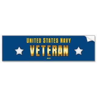 United States Navy   VETERAN Bumper Sticker