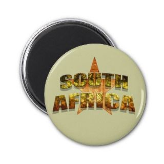 South Africa Star Tees & South African Star gifts Magnet