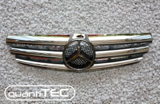 VOLL CHROM FRONT GRILL FRONTGRILL KÜHLERGRILL MERCEDES BENZ W209 02