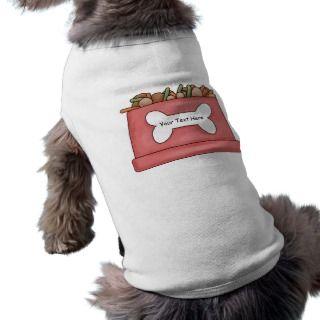 Dog Food Bowl Tees   Customizable   Add Name Pet Clothes
