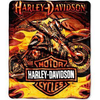 Harley Davidson Sunset 152 x 127cm Decke, Kuscheldecke   aus USA