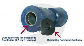 Kielrolle PU RM 197 mm mit Metallkern blueLINE  Boot Trailer