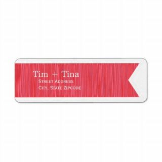 Red Ribbon Return Address Label