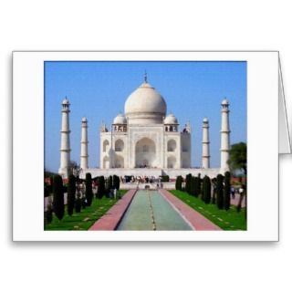 Digital painting Taj Mahal Card