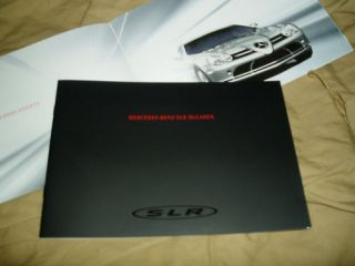 2003 Mercedes Benz SLR Mclaren Coupe Prospekt brochure catalogue (C199
