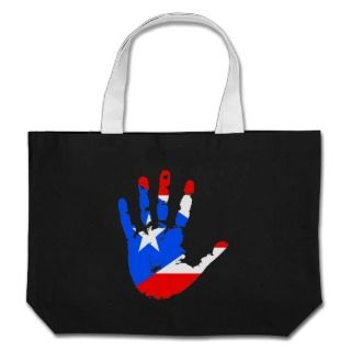 Puerto Rico Flag Handprint Bag