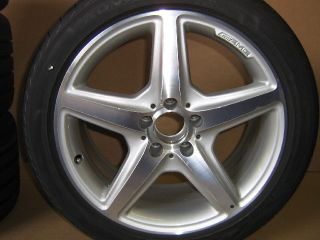 Mercedes Benz AMG Alu Felge 5 Speichen B66031484 18 Zoll titan silber