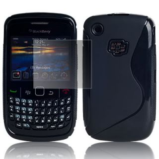 FOR BLACKBERRY CURVE 9300 S CASE BLACK+SCREEN PROTECTOR