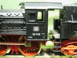 Fleischmann piccolo N Dampflok mit Tender der DB, BR 38 1148 / F414