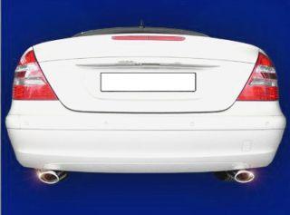 Endrohre Mercedes E Klasse W211 W 211 Auspuff CHROM NEU