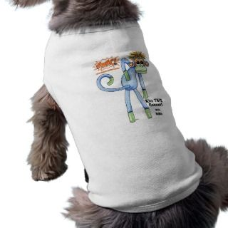 SMAC Sock Monkeys Against Cancer   NoMo Pet T shirt