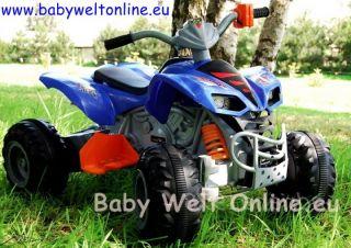 12V Kinder Elektro Auto Quad Raptor Style 60W blau