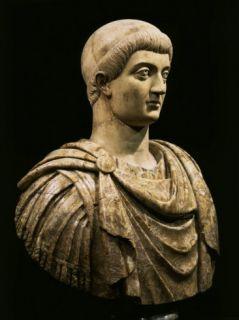 Constans I, Roman Emperor, c.323 50 AD, Marble Bust Photographic Print
