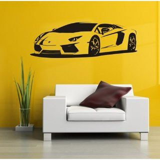 Wandtattoo Auto Lamborghini Aventador, 140x47 + Rakel von