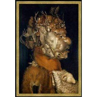 Bild mit Rahmen Giuseppe Arcimboldo, Erde, 47 x 71   Holz Corum S