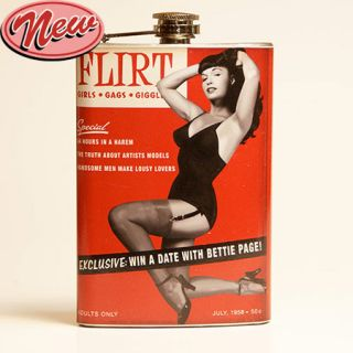 FLACHMANN FLIRT BETTIE PAGE ROCKABILLY VINTAGE STYLE 220 ml 8 oz STAHL