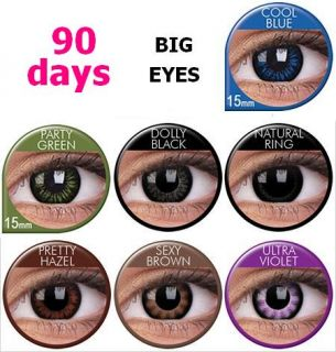 Crazy Party Colour Big Eyes Kontaktlinsen Contact Lens