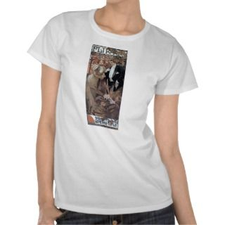 Mucha flirt woman man romantic love tee shirt