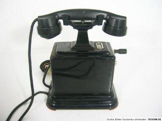 Uraltes Telefon,Ericsson,Schweden,Kurbelinduktor, um 1920/30,
