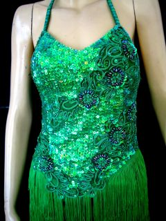 CUSTOM DRAG QUEEN sequin Latin CABARET dance dress