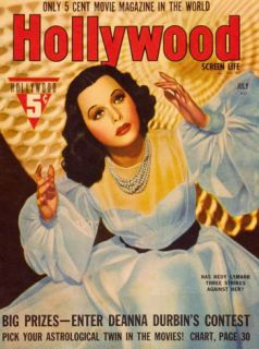 Hedy Lamarr   Hollywood Magazine Cover 1930s Masterprint