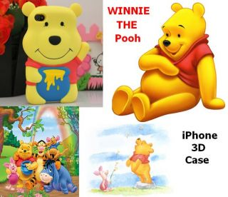 For iPhone 4 Soft case Disney 3D Winnie Pooh Bear Cover cas diphone