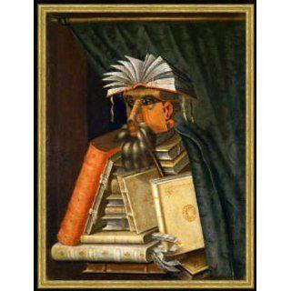 Bild mit Rahmen Giuseppe Arcimboldo, Der Bibliothekar, 51 x 68
