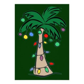 Christmas Palm Tree Invitations