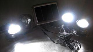 LED Power Strahler mit Solar Panel & Bewegungsmelder sowie
