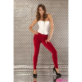 Samt Leggings / Farbe  Rot