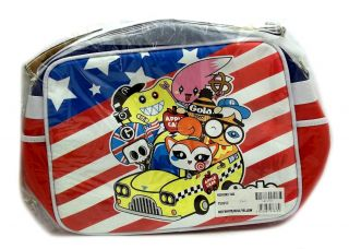 GOLA BY TADO REDFORD TAXI AMERICAN USA FLAG ZIP UP MESSENGER SHOULDER
