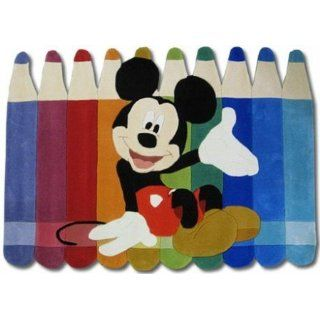 Kinderteppich Disney Mickey Mouse Buntstifte 168x115cm