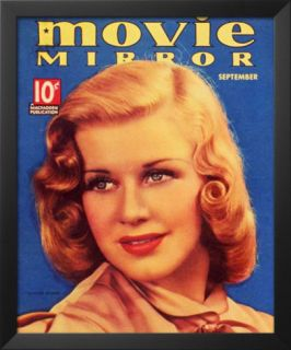 Ginger Rogers   Movie Mirror Magazine Cover 1930s Prints
