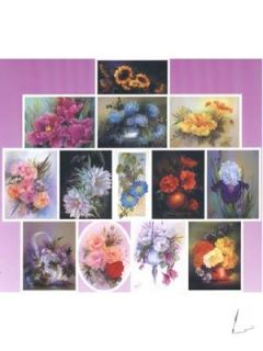 Bob Ross JOY of PAINTING FLOWERS I Ölfarben Buch Blumen