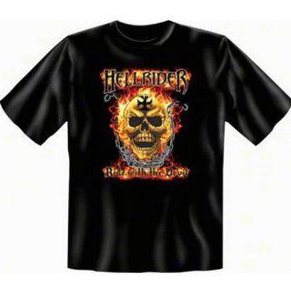 Biker Hölle Flammen Motiv Hell Rider (T Shirt) Sport
