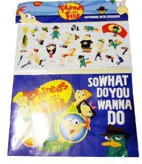 Phineas & Ferb Notebook mit 20 Sticker, Aufkleber   aus USA