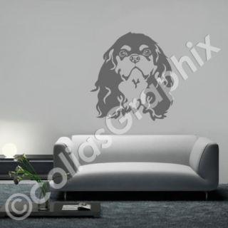 Cavalier King Charles Spaniel Hunde Wandtattoo Art237
