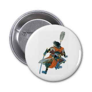 Samurai Warrior ~ Vintage Japanese Art Pin