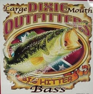 Dixie Outfitters Fishing Big Hitter Bass Tin Sign