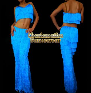 BLUE SALSA Latin SAMBA Fringe YULIA dance pants & Top