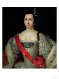 Portrait of Princess Anna (1718 46), the Mother of Emperor Ivan VI (1740 64), after 1733 Giclee Print by Louis Caravaque