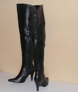 Overknee Stiefel Schuhe Damen Keil Wedges 8733 Braun 39