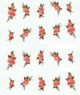 One Stroke Sticker  Pinsel Malerei Tattoo Nail Art #252