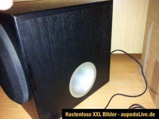 Aktiver Subwoofer   Schwarz   Yamaha YST SW012   Bass / Lautsprecher