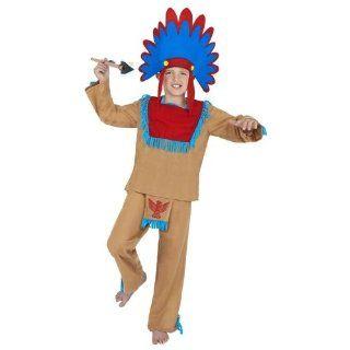 Indianerkostüm Kinder Indianer Rothaut Kostüm 3 5 Jahre Gr S
