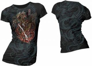 Samurai Dragon Colours UL13 Black T Shirt Alchemy***