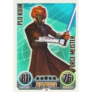 Star Wars Force Attax Einzelkarte 176 Plo Koon Jedi Ritter Force