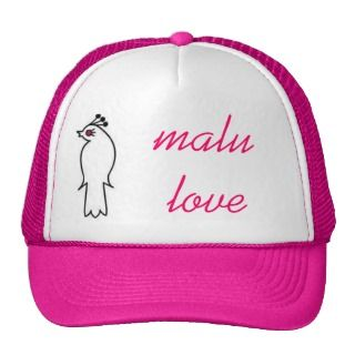 malu love trucker hats