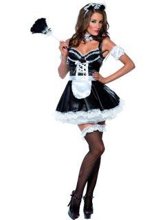Ladies Fever Französisch Maid Kostüm Damen Sexy Saucy Fancy Dress